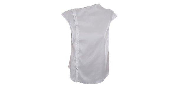 Dámská sněhobílá asymetrická košile Gene