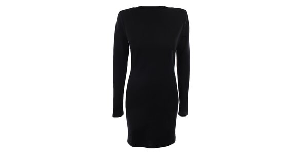 Dámské černé šaty s dlouhými rukávy Gene