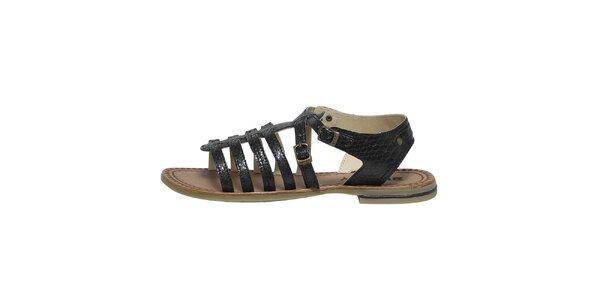 Dámské černé páskové sandálky Buggy