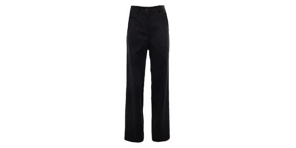 Dámské široké černé kalhoty s puky Gene
