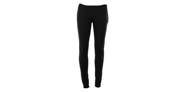 Dámské černé úzké kalhoty s puky Gene