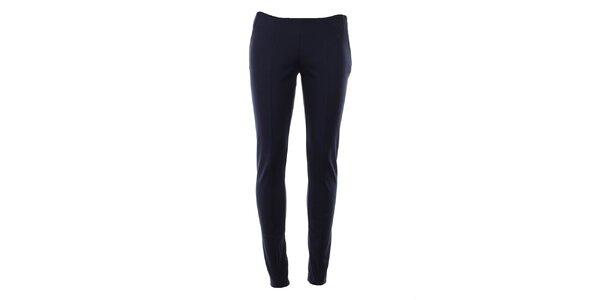 Dámské modré úzké kalhoty s puky Gene