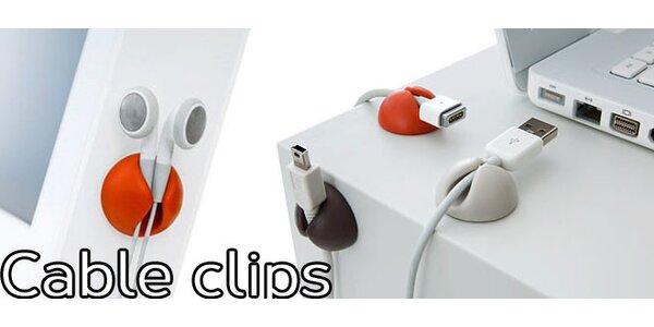 Cable Clips 12 ks - už nemusíte řešit povalující se kabely
