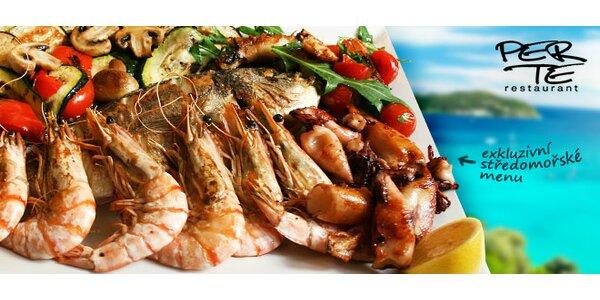 Dary moře na grilu v restauraci Per Te (1100 g)