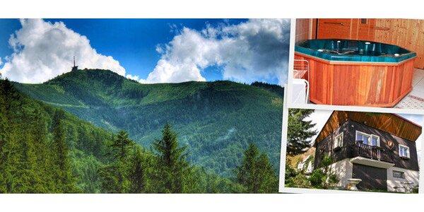Týdenní pronájem luxusní chaty v Beskydech pro až 9 osob s vířivkou