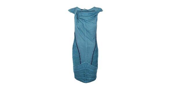 Dámské dlouhé tyrkysové šaty Angels Never Die