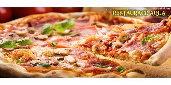 2 pizzy dle výběru v restauraci Aqua Eden