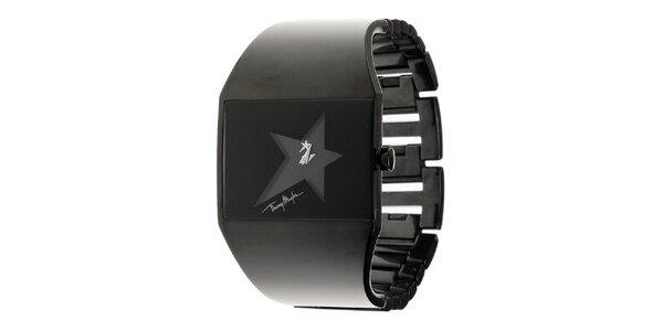 Dámské černé ocelové hodinky Thierry Mugler