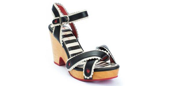 Dámské sandálky na podpatku se srdíčky Lola Ramona