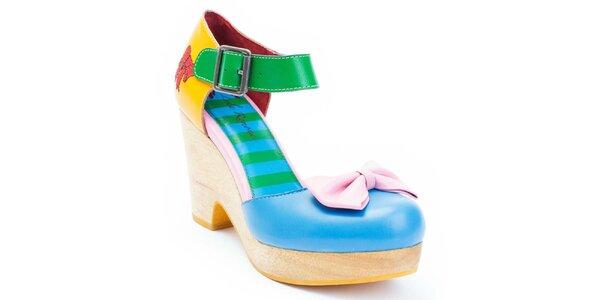Dámské barevné boty s mašlí Lola Ramona