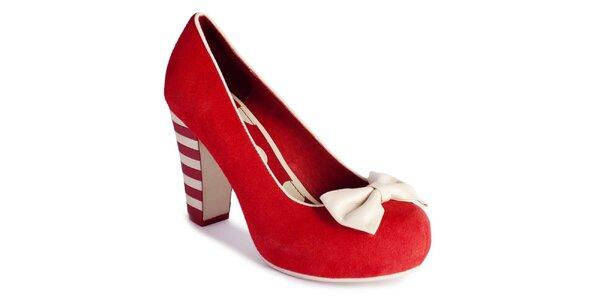 Dámské červené semišové lodičky Lola Ramona