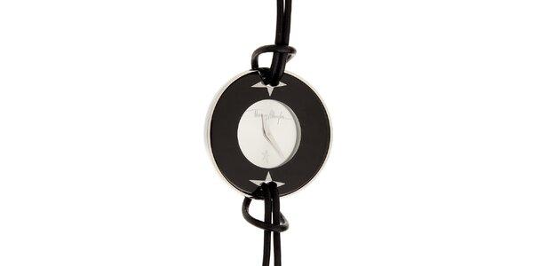 Dámské černo-stříbrné náramkové hodinky Thierry Mugler