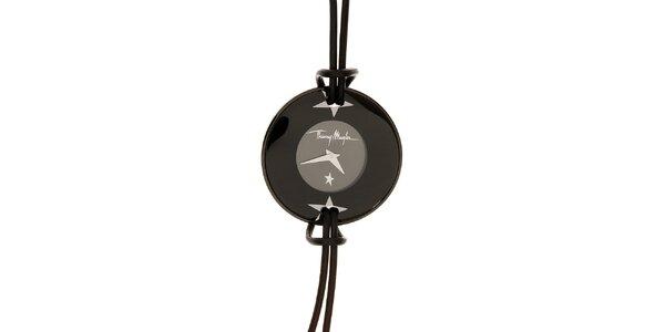 Dámské černé náramkové hodinky Thierry Mugler