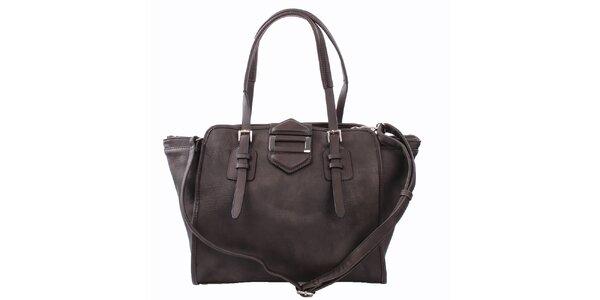 Dámská tmavě hnědá kabelka s kovovou ozdobou Bessie