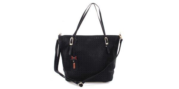 Dámské černá kabelka s perforací Bessie