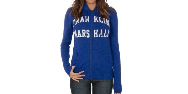 Dámský modrý svetr na zip Franklin & Marshall