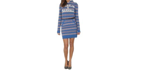 Dámské vlněné vzorované šaty Franklin & Marshall