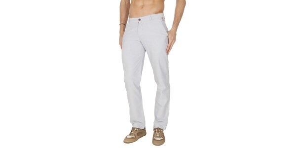 Pánské světle šedé plátěné kalhoty Franklin & Marshall