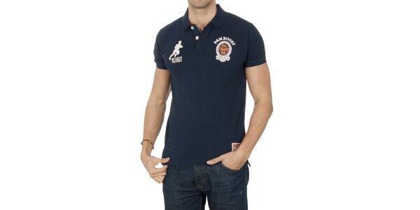 Pánské polo tričko s ragbistickým motivem Franklin & Marshall
