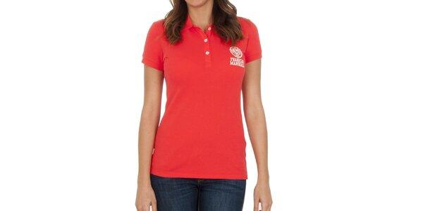 Dámské červené polo tričko se značkou Franklin & Marshall