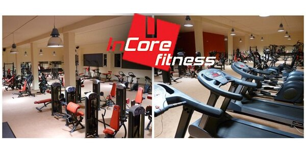 262 Kč za měsíční permanentku do InCore Fitness centra.