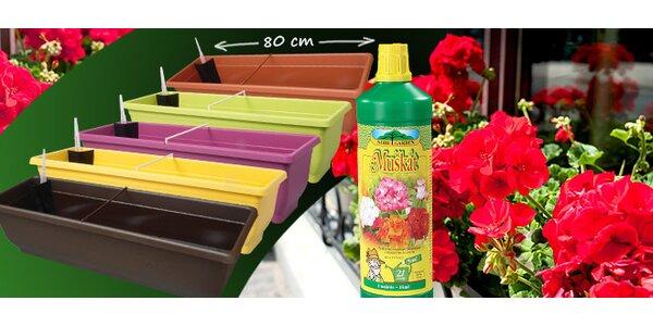 Výprodej! 2 samozavlažovací truhlíky + zdarma hnojivo
