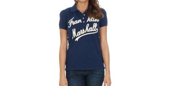 Dámské námořnické polo tričko s nápisem Franklin & Marshall