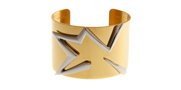 Dámský zlatý ocelový náramek Thierry Mugler se stříbrnou hvězdou