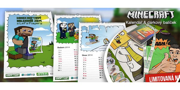 Výprodej! Velký dárkový balíček a kalendář MINECRAFT