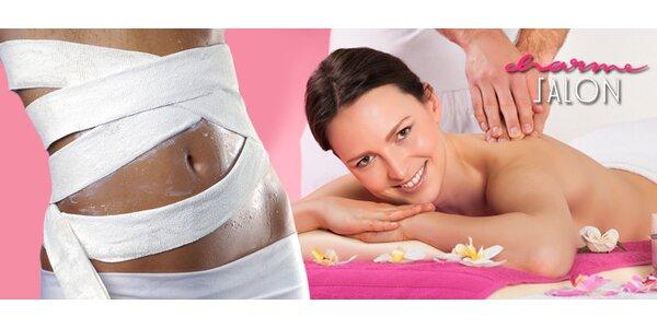 Zeštíhlující zábal, lymfodrenáž a relaxační masáž