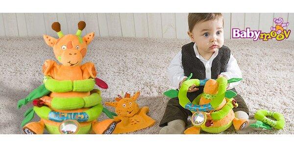 Atraktivní plyšová žirafa Babymoov pro děti
