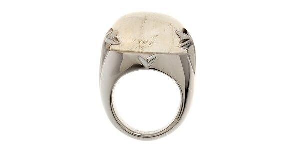 Dámský ocelový prsten Thierry Mugler s bílým krystalem