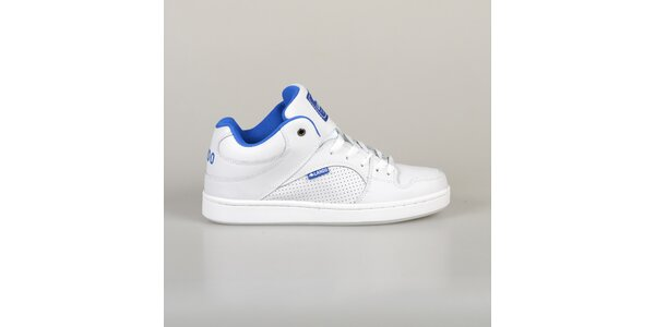 Pánské bílé tenisky s modrou podšívkou Lando