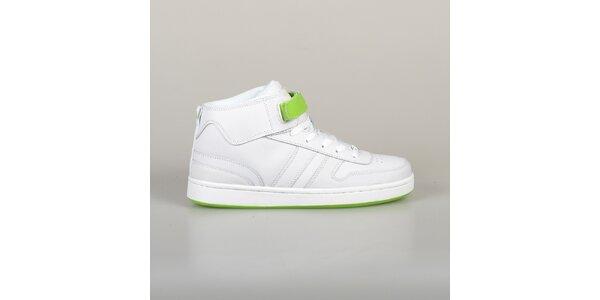Pánské bílo-zelené tenisky Lando