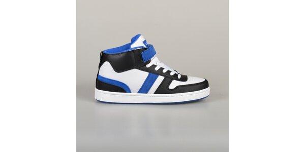 Pánské modro-černo-bílé tenisky Lando