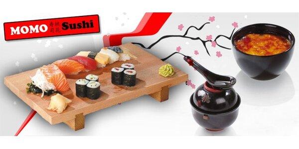 349 Kč za vynikající menu MOMO Sushi. SLEVA 52%.