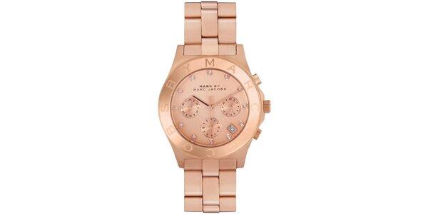 Dámské pozlacené ocelové hodinky Marc Jacobs v barvě růžového zlata