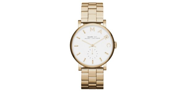Dámské pozlacené ocelové hodinky Marc Jacobs