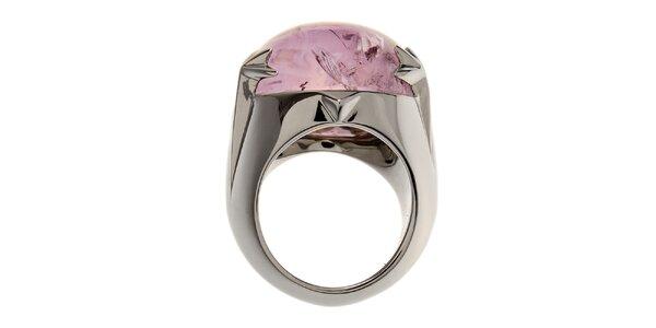 Dámský ocelový prsten Thierry Mugler s ametystem