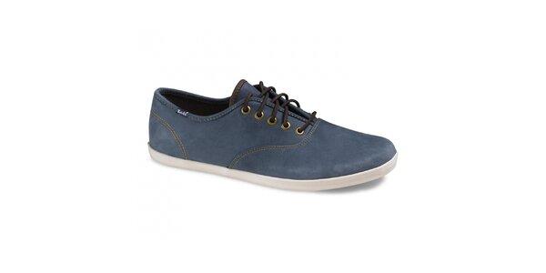 Pánské ocelově modré kožené tenisky Keds