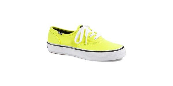 Dámské neonově žluté tenisky Keds