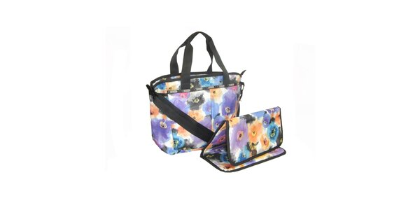 Dámská kabelka LeSportsac s květinovým potiskem