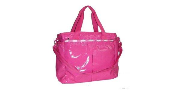 Dámská lakovaná růžová kabelka LeSportsac