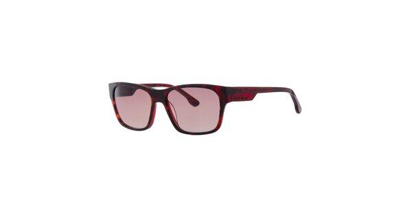 Pánské červeně žíhané sluneční brýle Diesel