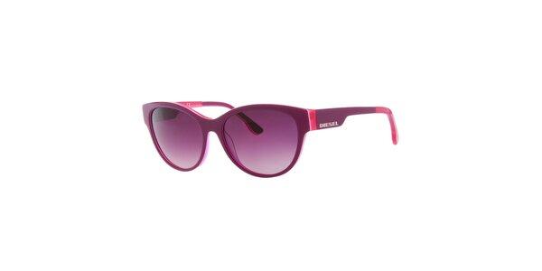 Dámské fialovo-růžové sluneční brýle s fialovými sklíčky