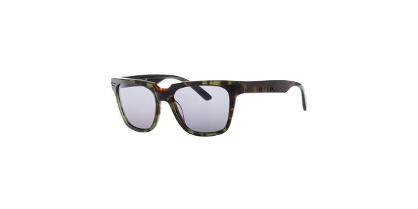 Pánské zeleno-hnědé žíhané sluneční brýle Diesel