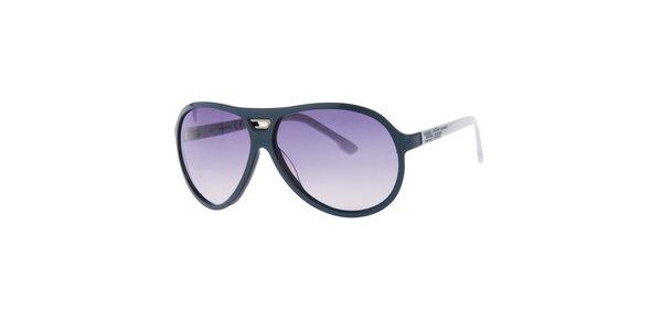 Pánské retro petrolejově modré sluneční brýle Diesel
