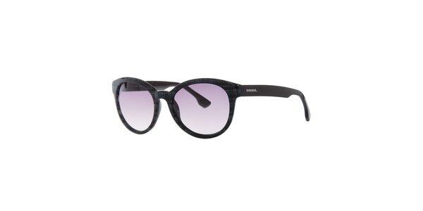Dámské černé sluneční brýle Diesel se vzorem
