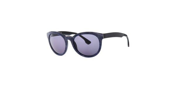 Dámské modro-černé sluneční brýle Diesel se vzorem a modře zabarvenými sklíčky