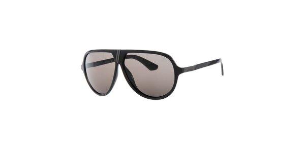 Pánské retro černé sluneční brýle Diesel